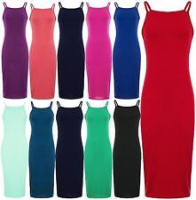 New Womens Long Body Con Camisole Midi Dress 8-22