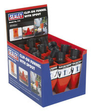 CLIP-ON FUNNEL WITH SPOUT - DISPLAY BOX OF 12 FROM SEALEY