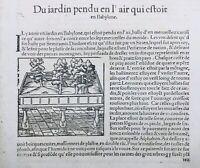 Jardin de Babylone 1575 Irak Syrie rare gravure sur bois Encyclopédie Munster