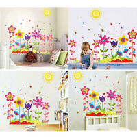 Bunte Blume Aufkleber für Kinder Baby Zimmer Wand Aufkleber Dekor Aufkleber sf
