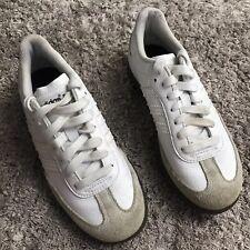 Adidas Samba Junior Youth Boys Size 2 White Tan Golf Shoes #671615