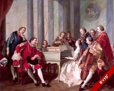 18TH CENTURY SEXTET MUSIC SESSION PAINTING HISTORY ART REAL CANVAS PRINT