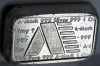 1981 A MARK ART BAR #189 USVI USA VIRGIN ISLANDS .999 FINE SILVER 1 TROY OZ