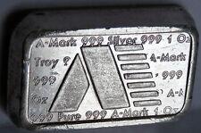 A MARK 1981 ART BAR #189 USVI .999 FINE SILVER STACKER VIRGIN ISLANDS 1 TROY OZ
