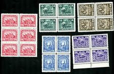 LOT 82209 MINT NH  288 - 292 BLOCKS STAMPS CZECHOSLOVAKIA