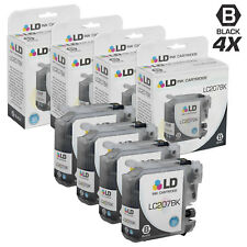 LD © for Brother LC207 4pk Extra HY Black MFC J4320DW J4420DW J4620DW
