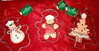Kurt Adler Gingerbread Inside Cookie Cutter Ornaments, ~SET OF 3~ Christmas Xmas