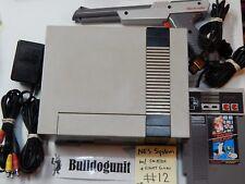 Original NES System w/ Light Gun Super Mario Bros Duckhunt Nintendo Zapper # 12