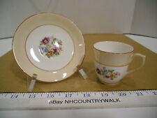 Colclough English Bone China Pink Floral Espresso or Demitasse Cup & Saucer, Euc
