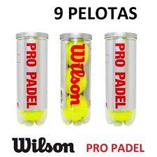 9X PELOTAS DE PADEL WILSON PRO PADEL ** ORIGINAL ** ALTA CALIDAD pádel 3 BOTES