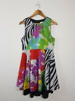 Shakuhachi Fit & Flare Mini Dress Women's Size 10 Multicoloured abstract CUTE