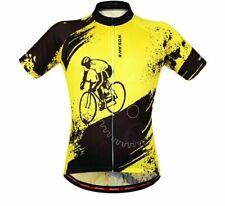 Men's Shorts Sleeve Cycling Shirts Printed Outdoor Sports Activity Clothing Wear