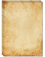 25 Sheets of Old Looking/Vintage Design Paper DIN A4. Great for Vintage invites