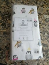 New listing New Pottery Barn Kids Flannel Icy Penguin Organic Crib Fittd Sheet Last One