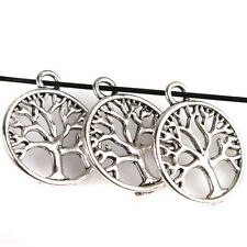 20pcs Wholesale Charms Antique Silver Tree of Life Round Alloy Pendant Lots J