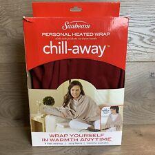 Electric Heated Fleece Cozy Warming Lap Blanket Portable Soft Throw Garnet