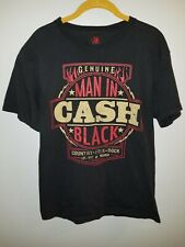 Vintage Zion Rootswear Johnny Cash Man In Black Graphic SS T Shirt Size M