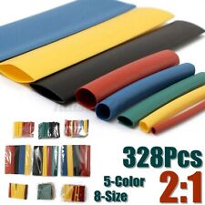 328pc Heat Shrink Tubing Insulation Shrinkable Tube 21 Wire Cable Sleeve 8