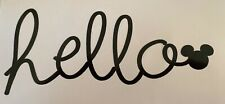 HELLO Mickey Car Laptop Water bottle Book Decal