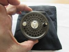 A1 rare orvis battenkill england click pawl 5/6 trout fly fishing reel + pouch .