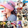 Womens Wide Brim Neck Face Protection Sun Hat Visor Outdoor Hiking Anti-UV Caps