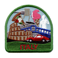 Italy Travel Embroidered Iron On Patch