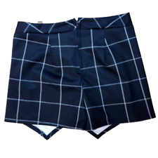 Charlotte Russe Plaid Shorts, Size Small, Looks Like Skirt From the Back, Blue