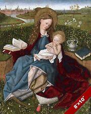 BEAUTIFUL MARY INFANT JESUS CHRIST PAINTING CHRISTIAN BIBLE ART CANVAS PRINT