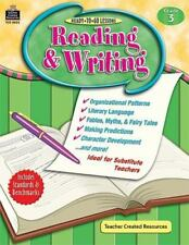 Ready-to-Go Lessons: Reading and Writing, Grade 3 paperback teacher resource