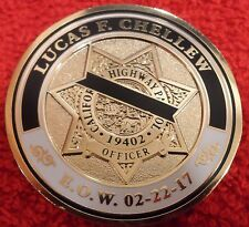 CALIFORNIA HIGHWAY PATROL OFFICER CHELLEW MEMORIAL COIN (ELA CHP LAPD POLICE)
