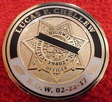 CALIFORNIA HIGHWAY PATROL OFFICER CHELLEW MEMORIAL COIN (ELA CHP LAPD POLICE)