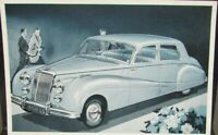 1954 Armstrong Siddeley Sapphire Auto Post Card Original Printed in England