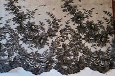 Vintage/Antique Cotton Black Lace 1 Yard