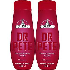 2 x SodaStream Classic Drinking Syrup Flavoured Sparkling Water, 440ml, Dr. Pete