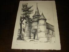 EGLISE DE GRONARD - Lithographie Albert Lemasson - Thiérache