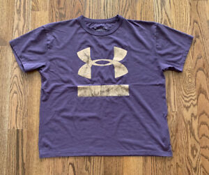Under Armour The Girlfriend Tee Athletic Running Women's Size L Purple EUC