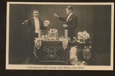 Magic Magician Illusionist Rolf Dinardi & Dom Baldy Props on Stage Post Card