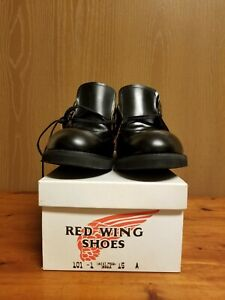 VTG Red Wing Heritage 101-1 Postman Oxford Black Leather Sweat Proof Shoes 15 A