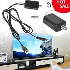 HDTV Antenna Amplifier Signal Booster Cable TV High Gain Channel Boost Indoor