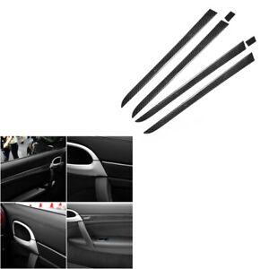 6Pcs For Porsche Cayenne Sport SUV 2003-2010 Carbon Fiber Door Panel Cover Trim