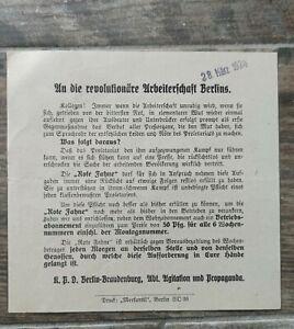 orig FLUGBLATT 1924 KPD Weimarer Republik Arbeiter Union Spartakus RFB Rotfront