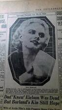 1930'S NEWSPAPER COLLECTION #J5324- JEAN HARLOW MOVIES + MRS. HOUDINI SPOOK CAFE