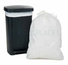 PlasticPlace 13 Gallon Extra Tall Drawstring Bags, 200/Case - MPN: W13DSWH