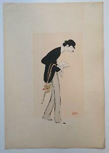 """★★Lithographie SEM  """"PARIS TROUVILLE"""" 1900 OPPENHEIM"""