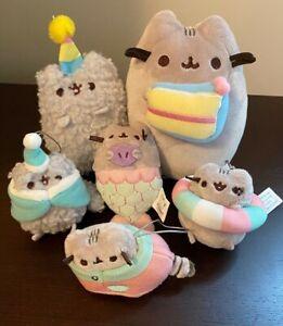 Gund Pusheen Plush Lot: Birthday Set with Stormy, Blind Box Mini Plushies