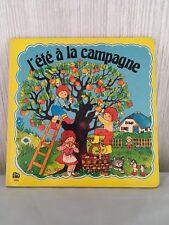 Livre cartonné bébé, enfant, l'été à la campagne, éd. LITO 1985