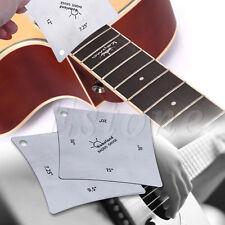 2pcs Guitar Bass Square Ruler Radius Gauge Fingerboard Measuring Luthier Tools