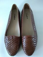 Trotters Brown Basket Weave Loafers Size 11.5WW