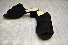 **Chinese Laundry Marlowe Suede Heeled Sandals, Women's Size 6.5, Black NEW