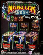 MONSTER BASH REMAKE PINBALL FLYER! CHICAGO GAMING!